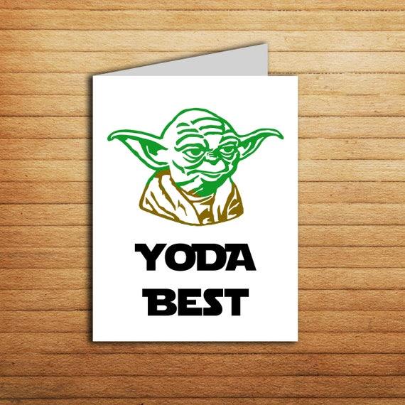 Star Wars Yoda Best Card Funny Thank You Card Birthday Card