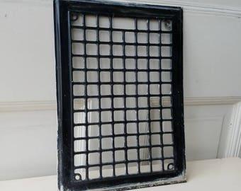 Vintage Steel Grate, Rustic Steel Grate, Rustic Metal Grate, Steel Vent Cover, Metal Vent Grate, Heating Grate, Architecture Salvage