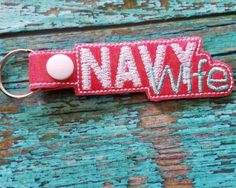 Navy Wife Keychain
