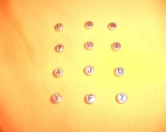 12 Letter beads