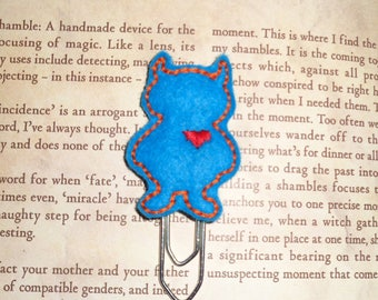Wild Thing Love Monster - Blue - Paper Clip - Felt Planner Clip - Planner Accessory - Stationery - Cute Paper Clip - Bookmark - Planner Clip