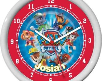 Paw Patrol Personalized Children/Nursery Wall Clock