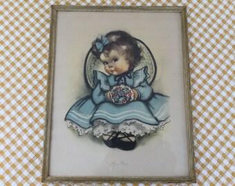 "1944 Framed Print, ""Sitting Pretty"" by Charlot Byj from Herbert Dubler, New York"