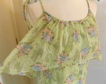 vintage 1970s sylvan maxi dress summer dress hippie boho festival 10 12