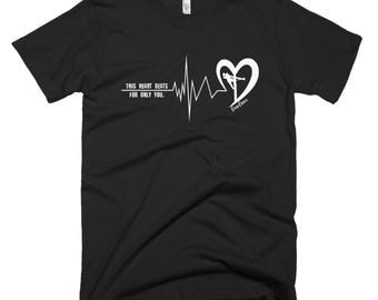 This Heart Beats For Only You Lineman's Wife Linewife Tee