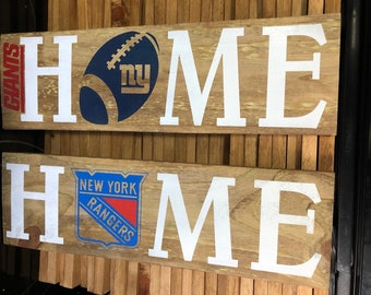 NY Giants HOME Sign