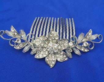 Rose gold hair comb, rose gold, Wedding hair comb, bridal hair comb, bridal hair accessories, wedding hair accessories, crystal hair comb,