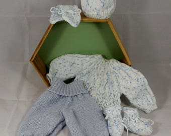 Complete set for boy size 0-1 month handmade