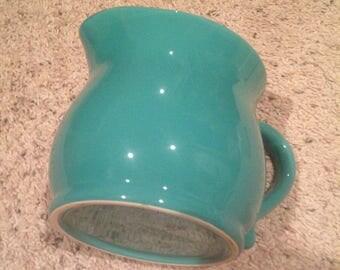 Lovely medium size turqoise pitcher