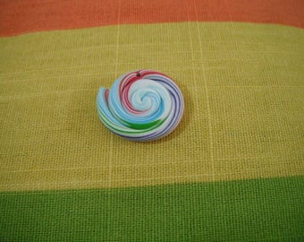 1 Pearl lollipop Fimo polymer clay - food jewelry