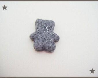 Teddy bear polymer clay cabochon scrapbooking bear