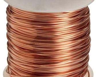 Genuine Copper Wire 22 Gauge Round Half-Hard 15 yards Craft DIY Jewelry Making Beading Supplies Cab Wire Wrap Tree of Life Pendant  Wire