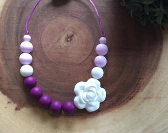 Little girls flower necklace