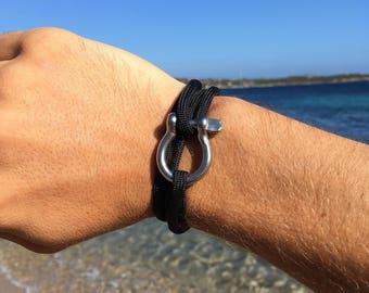 Manila black cord bracelet