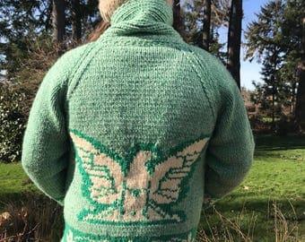 Men's Vintage Thunderbird Cowichan Wool Sweater XL