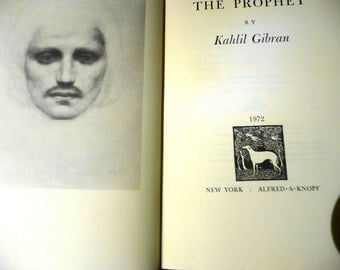 The Prophet by Kahlil Gibran Vintage 1972 Edition