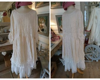 Romantic Gothic HORTENSE, hippie, Gypsy, shabby chic dress.