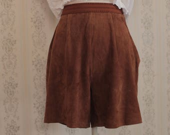 Vintage Pants Skirt in suede from 1970