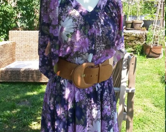 Vintage French handmade 70's summer dress