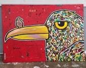 2 Birds Acrylic Painting