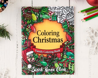 Christmas Coloring Book | Coloring Christmas - 30 Christmas coloring pages | Digital Download - Printable PDF Coloring Book for the holidays