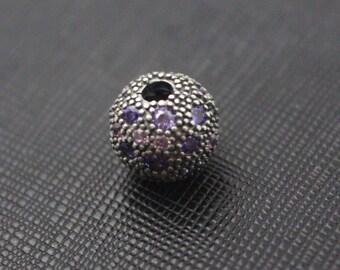 New Authentic Pandora Charm Bead Cosmic Stars Purple Mix CZ Clip 791286CFPMX