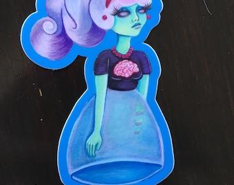 Julia Ghoulia Vinyl Sticker