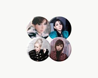"2NE1 ""MISSING YOU"" (그리워해요) Group Set Buttons KPop"