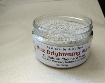 Rice Brightening  Clay Face Mask 5oz