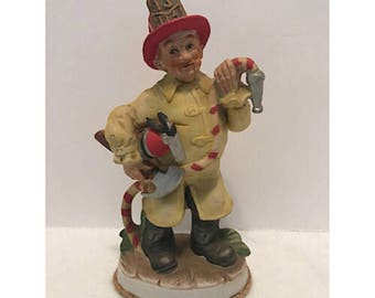 Vintage Lefton China Fireman Figurine