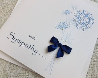 Sympathy Bereavement Thinking of You Card Handmade Personalised
