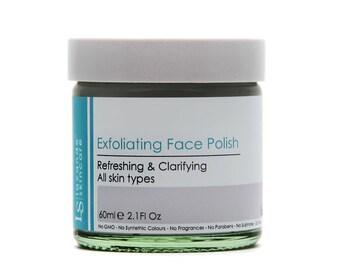 Exfoliating Face Polish with pumice powder, Revitalising Facial Scrub infused with Refreshing Eucalyptus & Lemongrass oils ..... 60ml