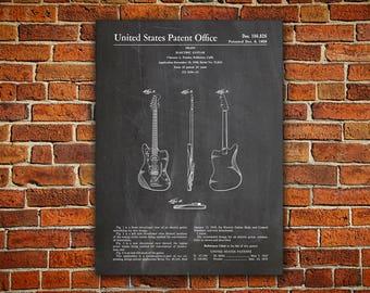 Jazzmaster Guitar Canvas painting,Guitar Patent,Electric Guitar Art,Fender Poster,Fender Jazzmaster,Jazzmaster Patent,Fender Decor