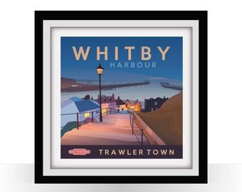 Whitby Harbour SQUARE  'Trawler Town'