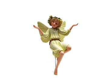 White Bryony Fairy, fairy garden miniature, fairy garden, miniature garden, fairy garden decor, fairies, faeries, Cecily Barker