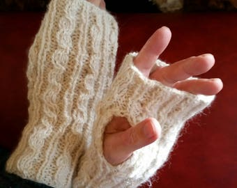 Alpaca Hand Knit Wrist Warmers