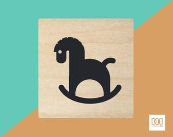 Rocking Horse - 1.5cm Rubber Stamp (DODRS0226)
