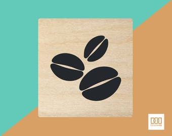 Coffee Beans - 3cm Rubber Stamp (DODRS0088)