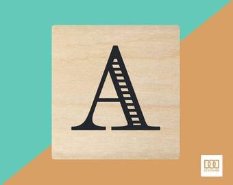 Modern Alphabet-A - 3cm Rubber Stamp (DODRS0155)
