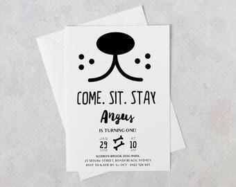 Dog Party Invitation, Dog invitations, Puppy Party invitations, Invitations for Dogs, Puppy Pawty, Dog Invites