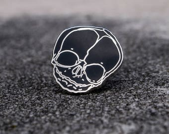 Fetal Skull Enamel Pin