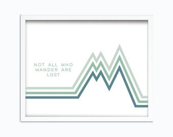 Not All Who Wander Are Lost | Tolkien Quote | Digital Printable | J R R Tolkien | Not All Those Who Wander Are Lost | Travel Printable