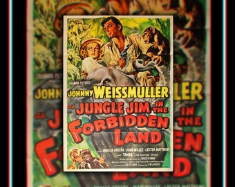 JUNGLE JIM In The Forbidden Land (1951) Very Rare 27x40 Fold US One Sheet Movie Poster Original Vintage Collectible