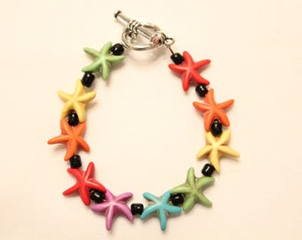 Colorful Young Girl's Starfish Bracelet