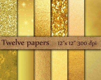 "SALE 50% OFF Gold Foil Digital Paper: ""GOLD Digital Paper"" Metallic Gold Digital Paper Gold Paper Gold Backgrounds Digital Gold Foil Paper"