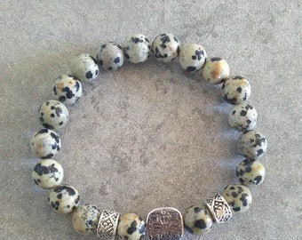 Be energized bracelet good Dalmatian Jasper