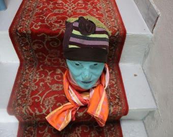 Autumn leaf Hat turban brightly way