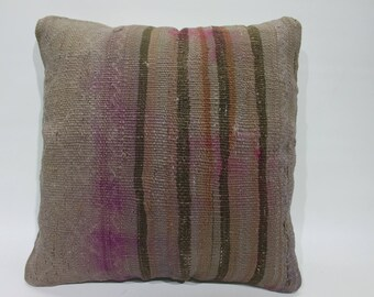 Vintage Turkish Kilim Pillow,Decorative Pillow,Tribal Pillow,Home Decor Pillows Cushion Covers Handwoven Turkish Kilim Pillow Cover    2731