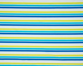 0.5 m Jersey stripe combination turquoise lime white