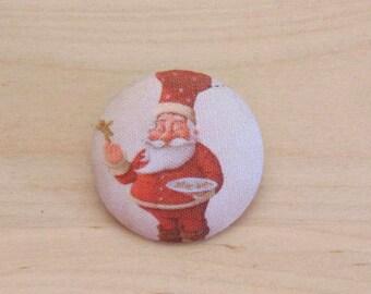 x 1 cabochon 19mm Cook ref A33 Santa fabric